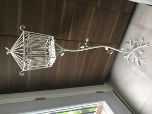 White Bird Cage - outdoor or party decor