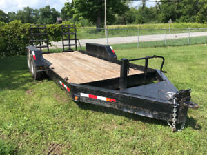 16' tandem trailer for sale - includes chains and binders