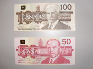 Canada Canadian Bank Notes Currency 1988