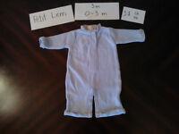 Ensembles et pantalons bébé garçon 0-3 mois SANS TACHE