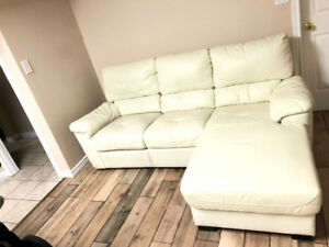 All leather sofa, $500, non-negotiable, self-collect