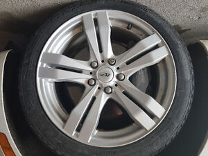 215 45 17 Federal Himalaya winter tires with Cadillac ATS rims