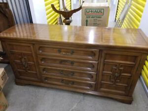FREE Antique Mahogany Pedestal Table + Buffet. Good Condition.