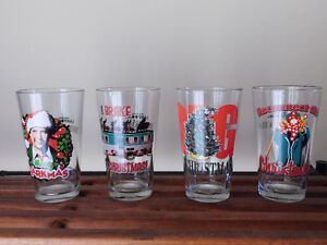 NATIONAL LAMPOON'S CHRISTMAS VACATION PINT BEER GLASS - SET OF 4