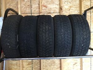 four tires and a spare