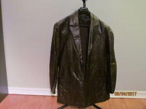 Vintage Mens Oxblood Leather Trench Coat for Sale Good Shape