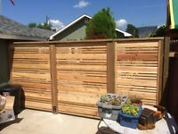 Hand built cedar fence!! Call for your free quote!!