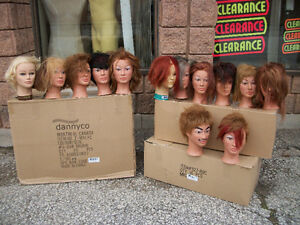 Mannequins & heads (male/female)lockers,shampoo/styling chairs