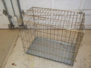 Fold down steel cage