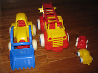 Durable Truck, Loader and 2 small cars ( Viking) outdoor toys