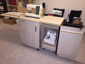 Singer In-Cabinet Sewing Machine with Serger