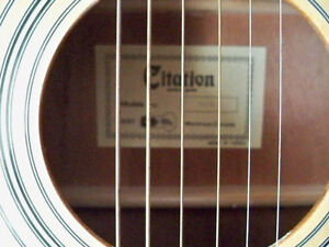 GUITAR CITATION ACUSTIC 6 STRING WITH CASE MINT CONDITION Stratford Kitchener Area image 5