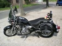 Matt Black Tourer Motorbike 125cc