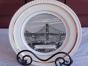 Vintage Commerative Angus L MacDonald Bridge plate