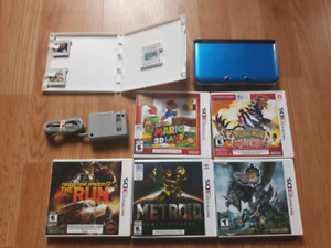 3ds XL with 8 games + more
