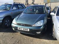 2002 Ford Focus 1.6 petrol, breaking for parts only, postage nationwide.