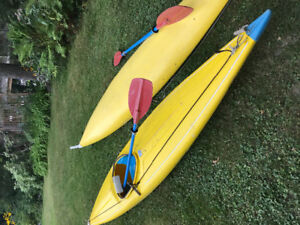 2 Indestructible Kayaks, Great for Kids or Adults