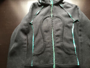 Special edition size 4  Lululemon scuba hoodie grey turquoise
