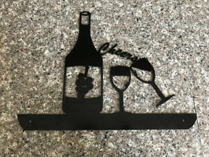 Wine Cheers Metal Art/Gate or Fence Insert Sign