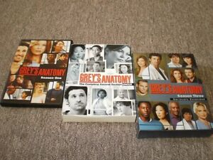 First 3 seasons of Grey's Anatomy - perfect condition DVDs