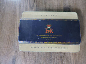 Player's Cigarette Tin to commemorate Queen's Coronation 1953 Kitchener / Waterloo Kitchener Area image 1