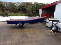 13 ft fiberglass boat with trailer (new)