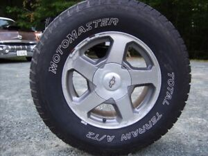 SET OF FOUR 245/70/16 MOTOMASTER TOTAL TERRAIN A/T2 TIRES ON TRA