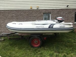 10FT Highfield Inflatable 5 person boat