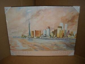 NEW!!! Nostalgic Laminate Print of the Toronto Skyline London Ontario image 2