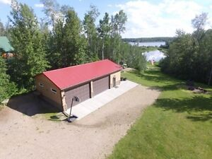 LAKEFRONT LOT WITH HEATED SHOP