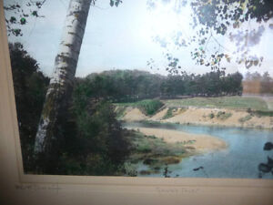 "Hugh Cummings ""Sauble River"" 1900's Hand Colored Photograph Stratford Kitchener Area image 4"