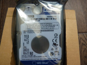 "WD Blue 500GB 2.5"" Laptop Hard Disk Drive WD5000LPVX"