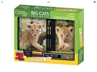Big Cats Magic Motion Stationery Kit BRAND NEW - UNOPENED