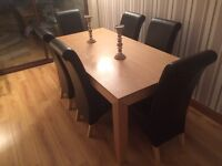 Dining Room table with 6 leather style chairs £200 ono