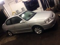 2002 Hyundai Accent 1.5 85k miles silver coupe alloys