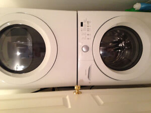 MINT CONDITION - stackable washer and dryer