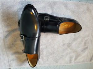 double munk strap shoes size 11  Italian hand made for sale