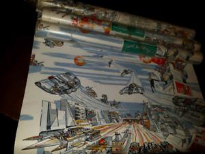 3 1/2 rolls of kids wallpaper