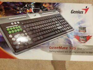 Genius Star Cruiser Gaming keyboard BNIB .. laser printed .!!