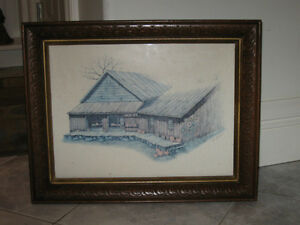 ...VINTAGE WATER COLOR by GAIL GLISSMANN..['50's]..Signed!
