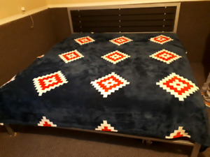 Brand new king size matress with king size bed frame