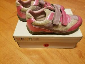Size 13 Pink Geox  J Better A - Durabuck + Mesh Girls Shoe