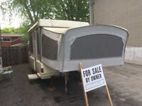 1987 Coleman hard top tent trailer