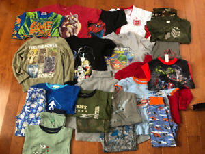 LOTS OF BOYS CLOTHES, SIZE 6, 7 AND 8, SUMMER AND FALL WEAR