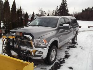 2012 Laramie Ram 2500 Pickup 4X4 6.7 Cummings with new 8' Plow
