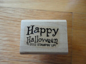Stampin up Happy Halloween 2002 Rubber Stamp
