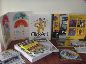 Logiciels /Software - ClickArt, Print Shop, Press Writer, etc.