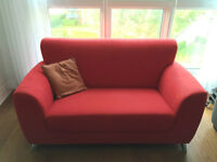 Red Modern 2 Person Couch, Like New