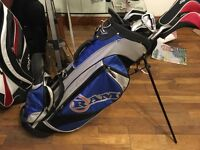 Full Set of golf clubs , carry stand bag, balls and tees . Perfect starter or Christmas gift.