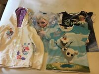 Girls Disney Frozen Hoody and 3 T-Shirts - Age 8-10